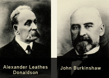 19th century portraits of A.L. Donaldson and John Burkinshaw