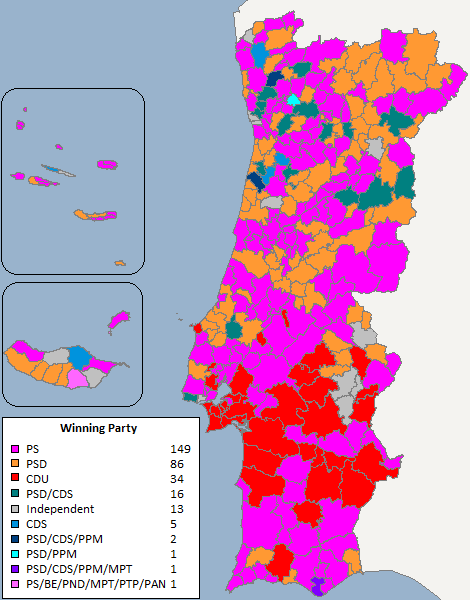 FilePortuguese Local Elections Result Mappng Wikipedia - Portugal election map