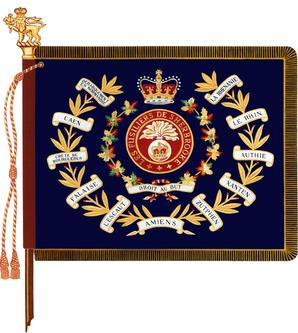 The regimental colour of Les Fusiliers de Sherbrooke.