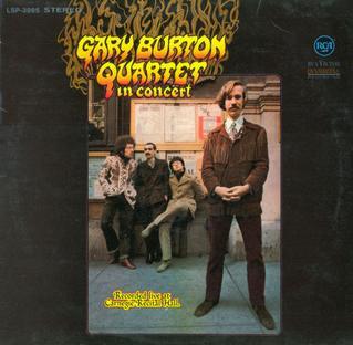 <i>Gary Burton Quartet in Concert</i> 1968 live album by Gary Burton Quartet
