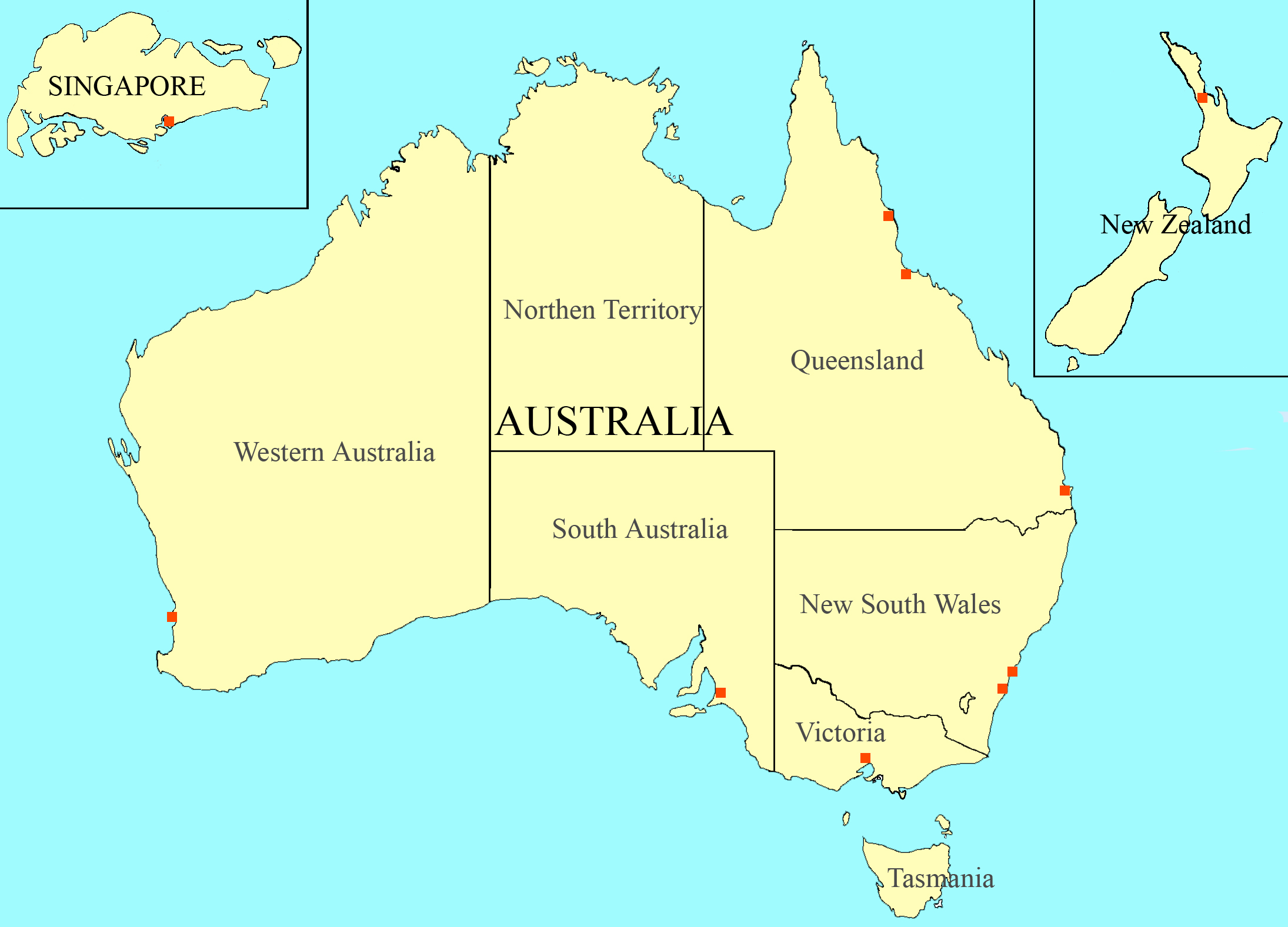 Map Of Australia Labelled.Template Nbl Labelled Map Wikipedia