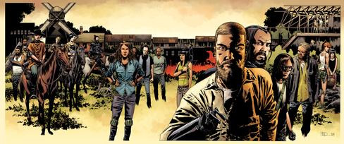 The characters from The Walking Dead.