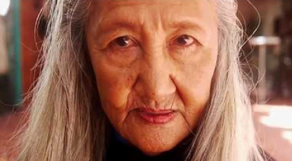 Old filipino lady