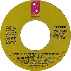 TSOP (The Sound of Philadelphia) 1974 single by MFSB