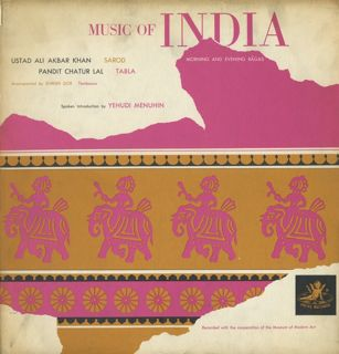 <i>Music of India: Morning and Evening Ragas</i> 1955 studio album by Ali Akbar Khan
