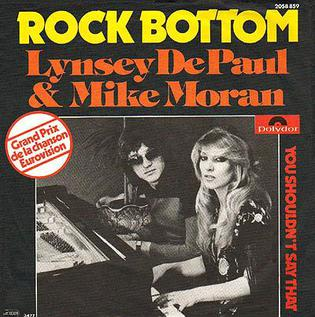 Rock Bottom (Lynsey de Paul and Mike Moran song) British song from 1977