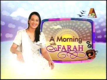 Famous Pakistani Tv Drama's Actress Atv Program Host Farah ...