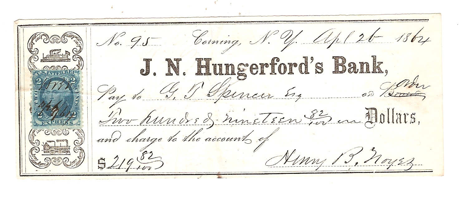 1488 meaning - File J N Hungerford S Bank Check Jpg