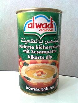 Hummus wikiwand lebanese produced hummus in a can for export markets forumfinder Gallery