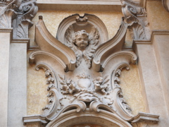 A detail from the façade of S. Maria Maddalena