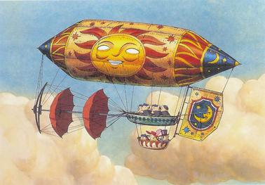 princess ghibli imaginary flying machines