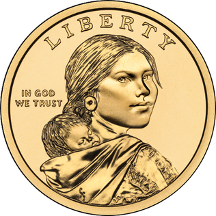 Sacagawea dollar US 1 dollar coin minted since 2000