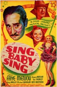 <i>Sing, Baby, Sing</i> 1936 film by Sidney Lanfield