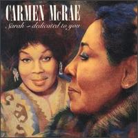 <i>Sarah: Dedicated to You</i> 1991 studio album by Carmen McRae