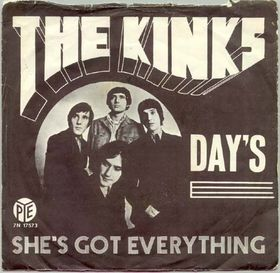 Days (The Kinks song) 1968 single by The Kinks