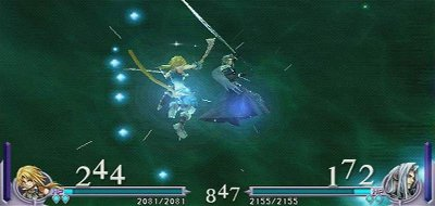 A fight from Dissidia Final Fantasy featuring Zidane Tribal and Sephiroth. Dissidiafight.jpg