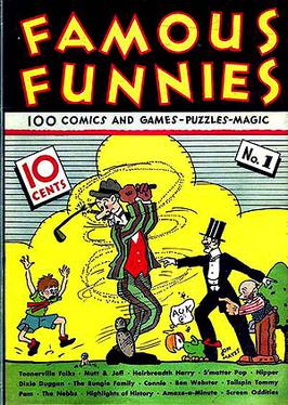 Famous Funnies #1 (July 1934). Cover art by Jo...
