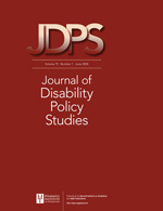 Journal of Disability Policy Studies Journal Front Cover.jpg