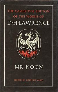 <i>Mr Noon</i> 1981 novel by D. H. Lawrence