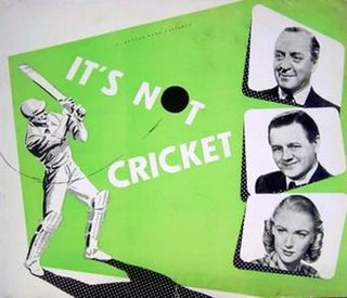 <i>Its Not Cricket</i> (1949 film) 1949 film by Alfred Roome