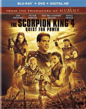 The Scorpion King 4: Quest for Power - Blu-ray cover