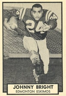 Johnny Bright Player of American and Canadian football