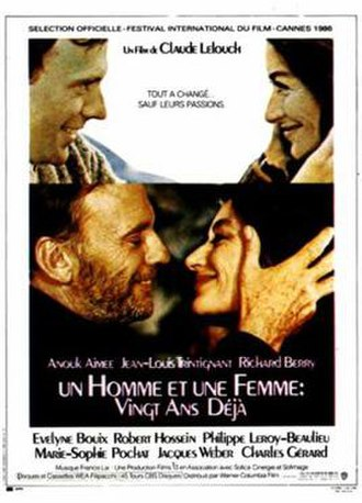 A Man and a Woman: 20 Years Later - French Poster