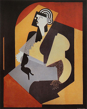Crystal Cubism - Albert Gleizes, 1920, Femme au gant noir (Woman with Black Glove), oil on canvas, 126 x 100 cm, National Gallery of Australia