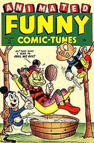 Vincent Fago - Ziggy Pig and Silly Seal in Animated Funny Comic-Tunes (formerly Funny Tunes), one of Fago's Timely Comics titles