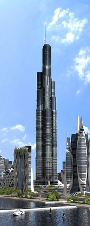 Azerbaijan Tower - Rendering of the Azerbaijan Tower