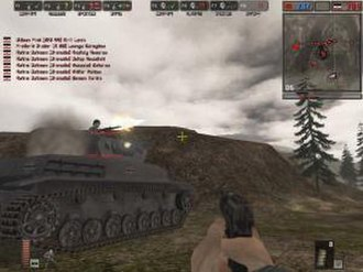 Battlefield 1942 - Battlefield 1942 features combat both as infantry and in vehicles