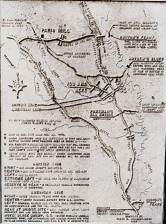 Battle of Brier Creek - Image: Battle of Brier Creek Hollingsworth Map