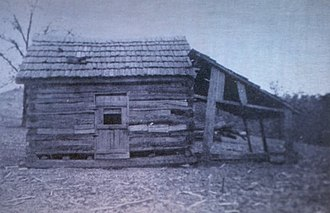 William M. Branham - The dirt-floor log cabin  that was William Branham's birthplace as shown in his biography William Branham: A Man Sent From God