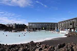 Blue Lagoon (geothermal spa) - The main visitors' building of the Lagoon