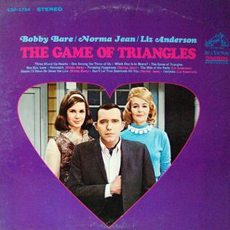 The Game of Triangles - Image: Bobby Bare, Norma Jean, Liz Anderson The Game of Triangles LP front
