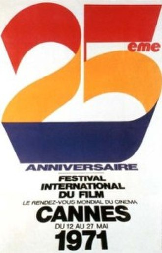 1971 Cannes Film Festival - Official poster of the 24th Cannes Film Festival, an original illustration by French artist René Ferracci.