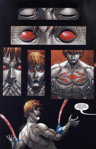 Chamber (comics) - Chamber is reborn as the pride of Clan Akkaba, art by Scott Kolins