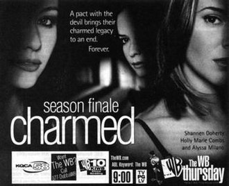 All Hell Breaks Loose (Charmed) - Promotional poster of the episode by The WB. The tagline hints at the end of the Charmed Ones and Prue's eventual death.