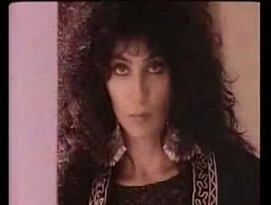 "Main Man - Cher in the music video for ""Main Man""."