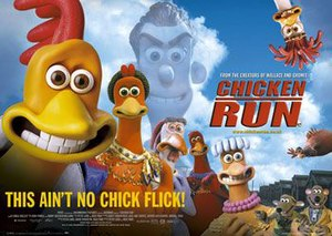 Chicken Run - British theatrical release poster