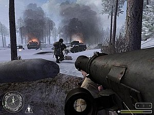 Call of Duty: United Offensive - United Offensive level depicting the Battle of the Bulge