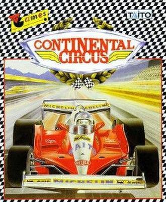 Continental Circus - Commodore 64 Cover