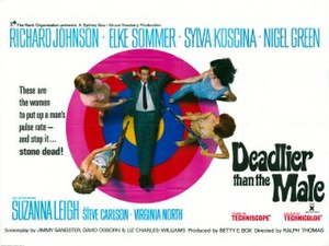 Deadlier Than the Male - UK cinema poster