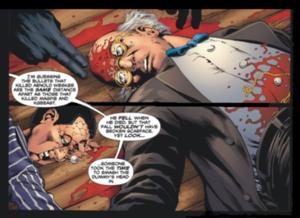 Ventriloquist (comics) - The death of the Ventriloquist (Arnold Wesker). Art by Don Kramer.
