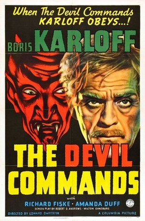 The Devil Commands - Theatrical poster