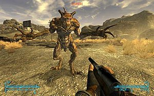 Fallout: New Vegas - Much like Fallout 3, players can switch from the first-person perspective, as shown here, to a much improved third-person viewpoint in New Vegas.