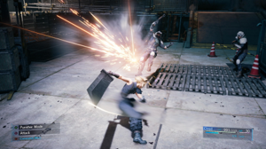 Final Fantasy VII Remake - Pre-release gameplay screenshot of Final Fantasy VII Remake shown at PlayStation Experience 2015