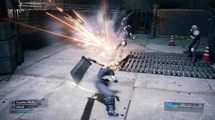 Final Fantasy VII Remake gameplay screenshot