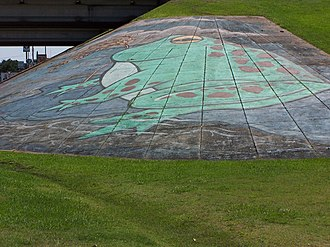 Rayne, Louisiana - One of many frog murals throughout the city