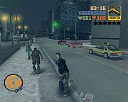 A screenshot of Claude running with a pistol in hand (PC version)